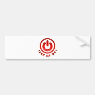 Power Button - Turn Me on Bumper Sticker