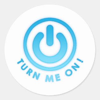 Power Button - Turn Me on Classic Round Sticker