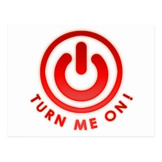 Power Button - Turn Me on Postcard