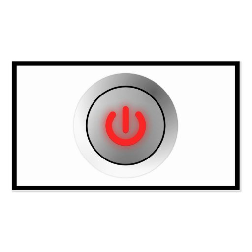 Power Button - White - Off Double-Sided Standard Business Cards (Pack Of 100)
