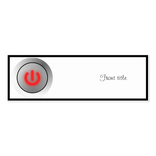 Power Button - White - Off Business Cards