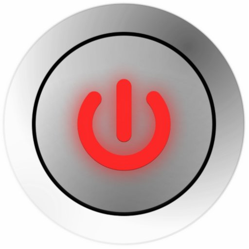 Power Button - White - Off Cut Out