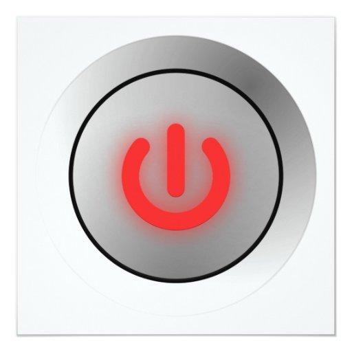 Power Button - White - Off Invite
