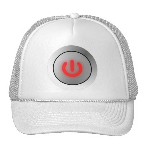 Power Button - White - Off Mesh Hats