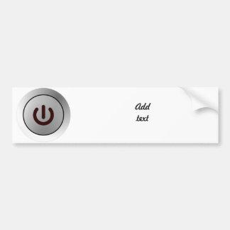 Power Button - White - On Car Bumper Sticker