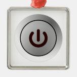 Power Button - White - On Ornament