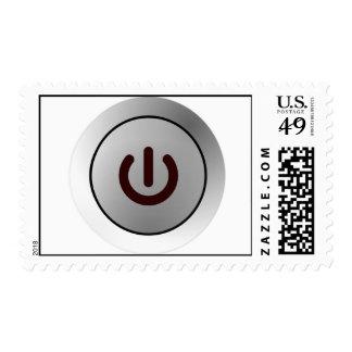 Power Button - White - On Postage