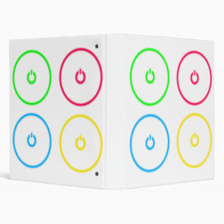 Power Buttons 3 Ring Binder