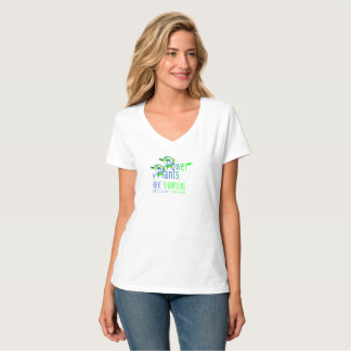 POWER by PLANTS. BECOME VEGAN. WHITE T-SHIRT. T-Shirt