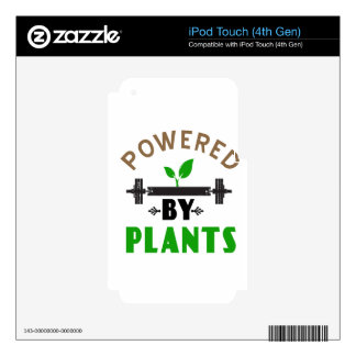 power by plants cute design iPod touch 4G skin