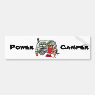 Power Camper Car Bumper Sticker