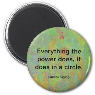 power circle lakota tribe 2 inch round magnet