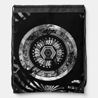 Power Clock Drawstring Bag