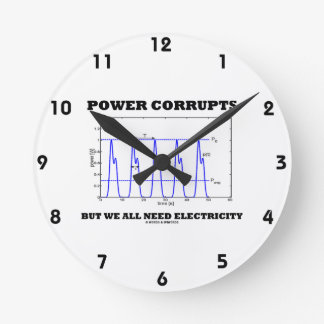 Power Corrupts But We All Need Electricity Graph Round Clock