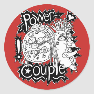 Power Couple Black And White Sticker