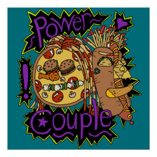 Power Couple Color Poster