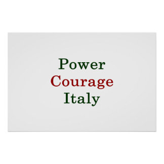 Power Courage Italy Poster