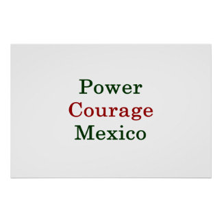 Power Courage Mexico Poster