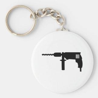 Power drill drilling machine basic round button keychain