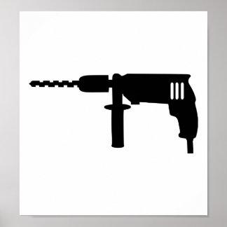 Power drill drilling machine print