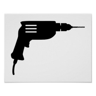 Power drill poster