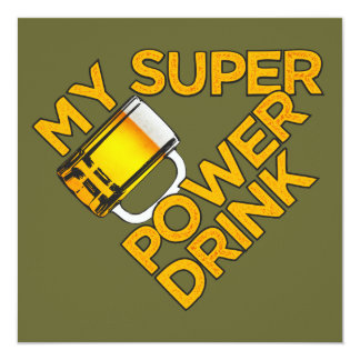 Power Drink custom invitation