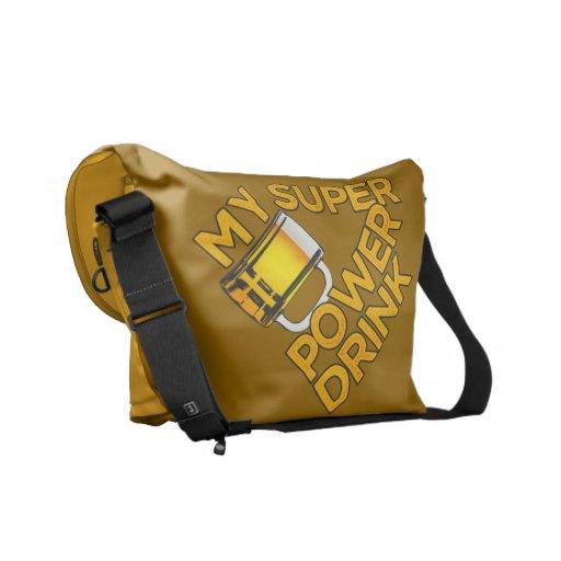 Power Drink custom messenger bag