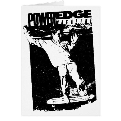 Power Edge Greeting Card