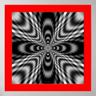 Power Emitting Cross Poster