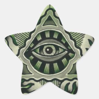Power Eye Star Sticker