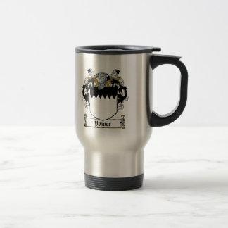 Power Family Crest 15 Oz Stainless Steel Travel Mug