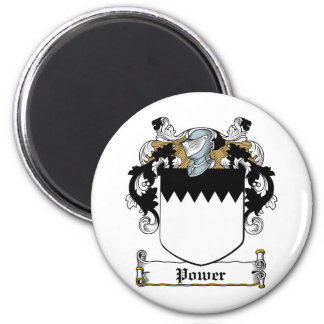 Power Family Crest 2 Inch Round Magnet
