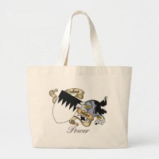 Power Family Crest Jumbo Tote Bag