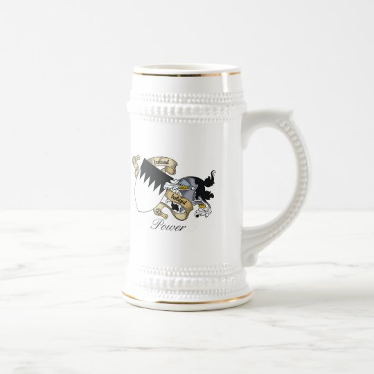 Power Family Crest Beer Stein