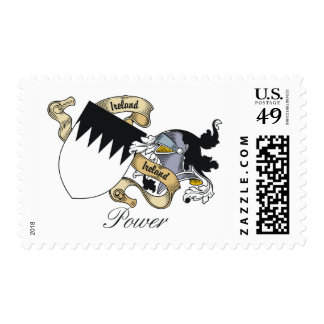 Power Family Crest Postage Stamp