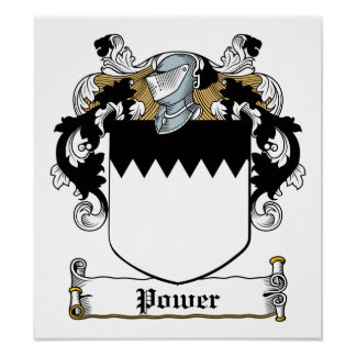 Power Family Crest Posters