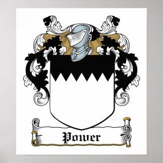 Power Family Crest Poster