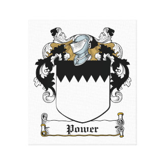 Power Family Crest Stretched Canvas Print