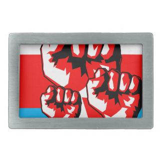Power Fist Rectangular Belt Buckle