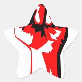 Power Fist Star Sticker