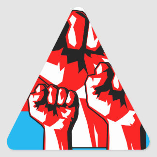 Power Fist Triangle Sticker