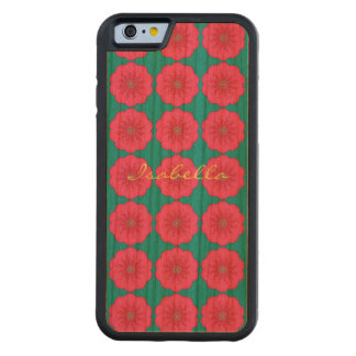 Power Flower Pattern name pink green yellow Carved® Cherry iPhone 6 Bumper