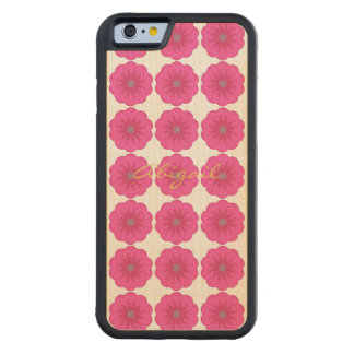 Power Flower Pattern name pink maple gold Carved® Maple iPhone 6 Bumper Case