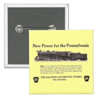 Power For The Pennsylvania Railroad 1926 Button