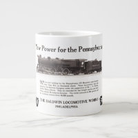 Power For The Pennsylvania Railroad 1926 Jumbo Mug