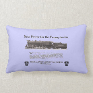 Power For The Pennsylvania Railroad 1926 Pillow
