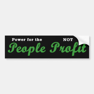 Power for the People Bumper Sticker (black)
