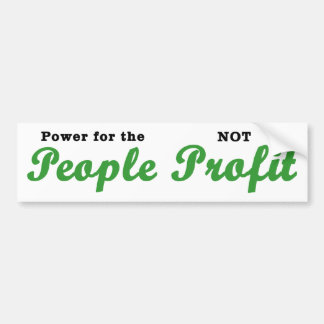 Power for the People Bumper Sticker (white)