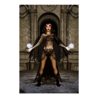Power From Within Gothic Fantasy Art Poster