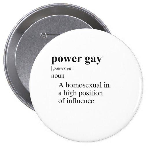 POWER GAY 4 INCH ROUND BUTTON